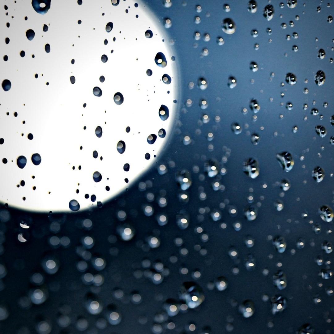 Random artistic picture of rain because it's raining.