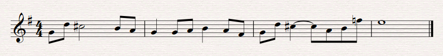 Same thing reimagined in G major,