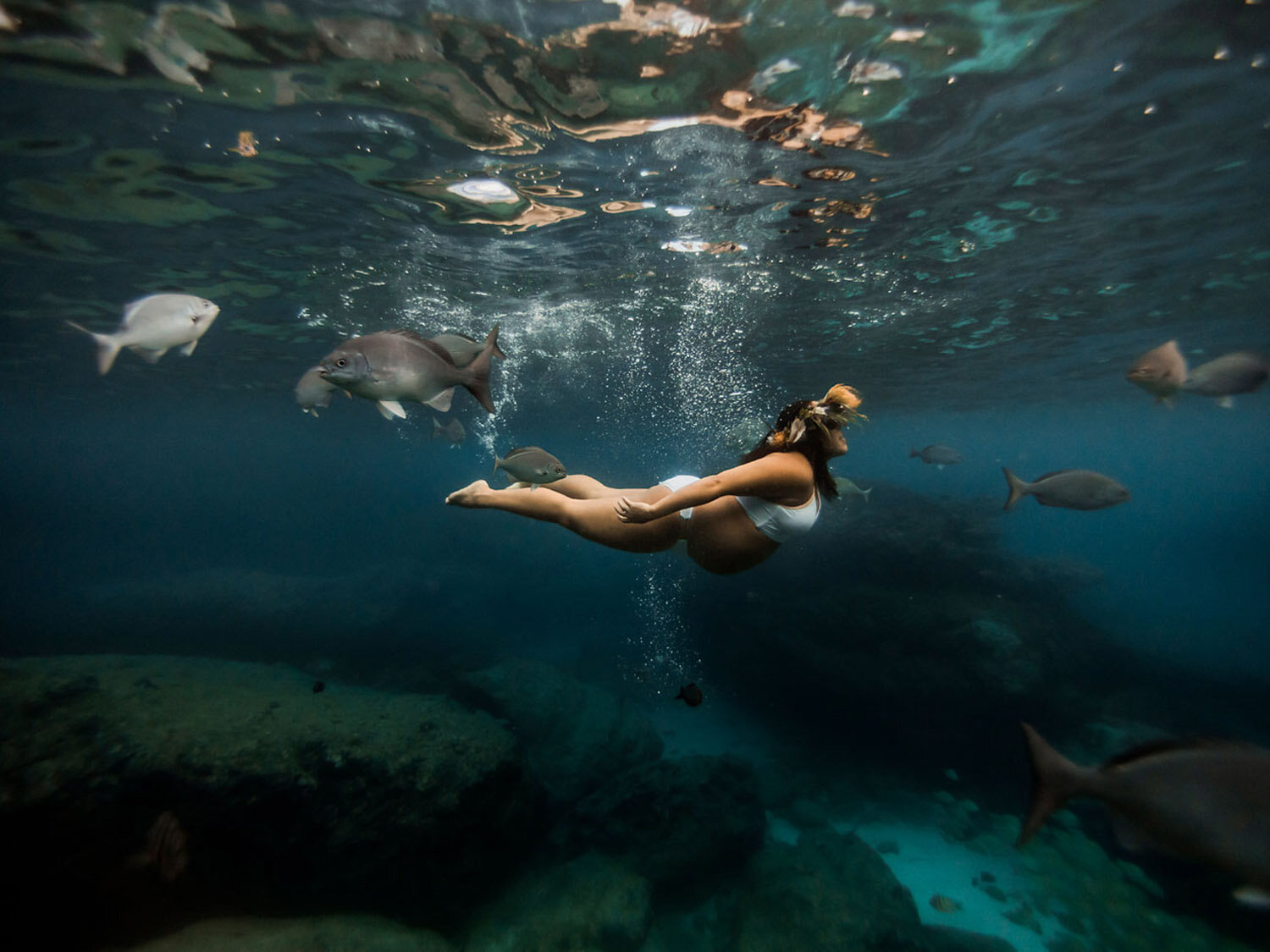 mermaiding together - MATERNITY SESSION