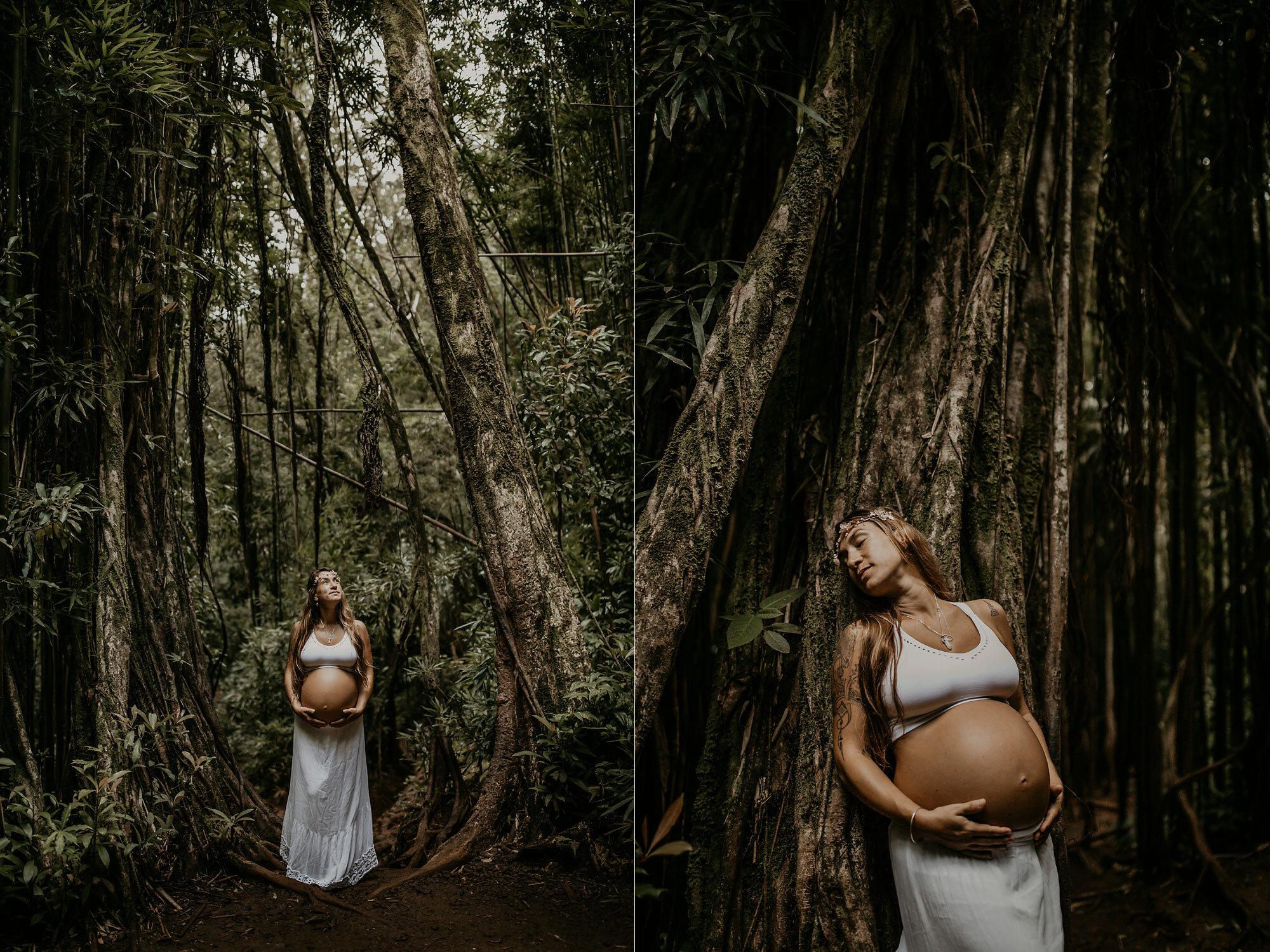 Oahu Hawaii Maternity Photographer Waterfall Maternity The Sophia Co 16.jpg