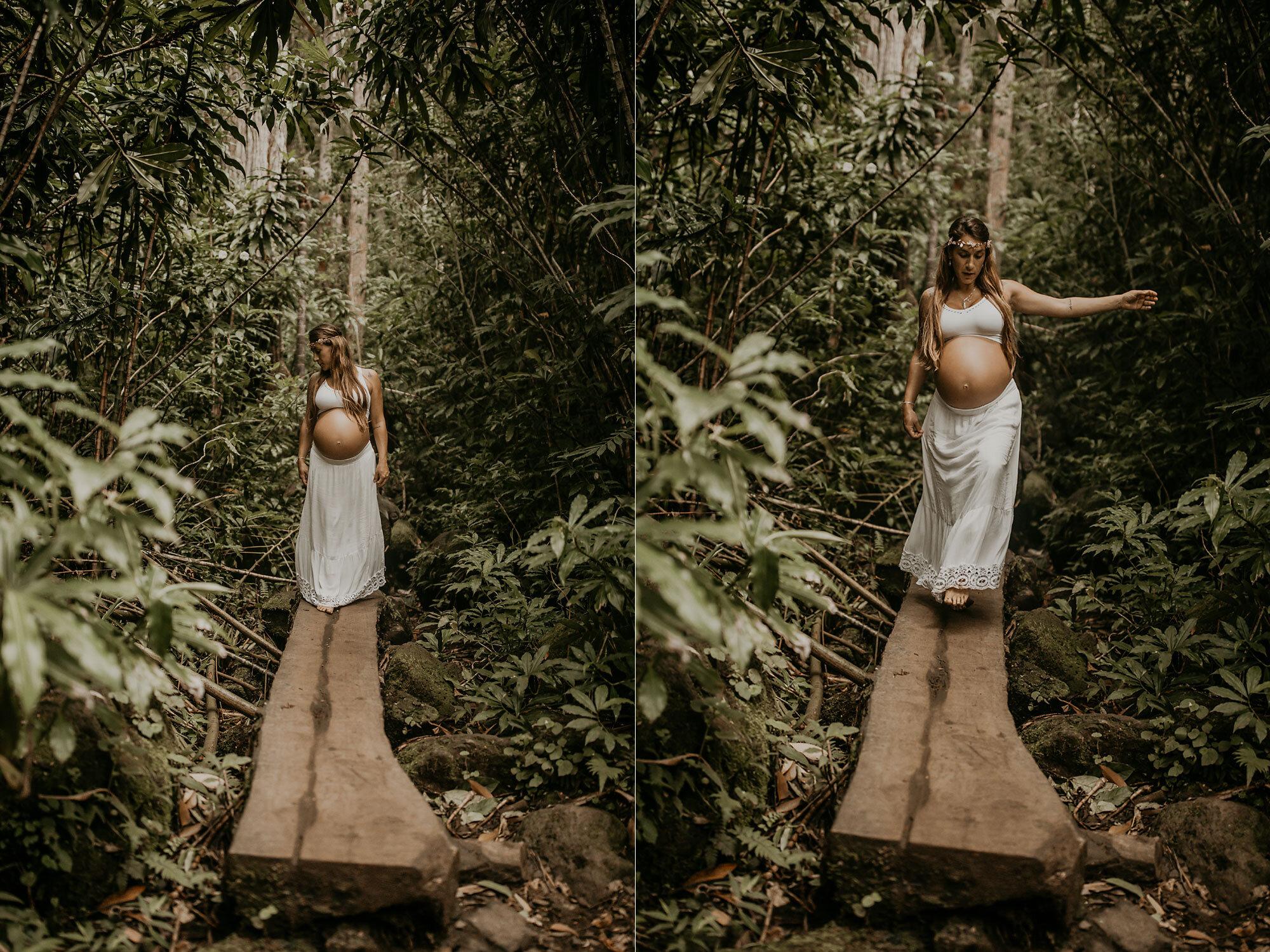 Oahu Hawaii Maternity Photographer Waterfall Maternity The Sophia Co 22.jpg