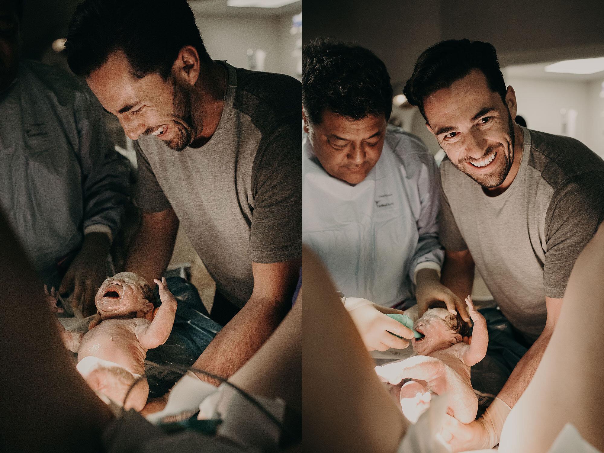 VBAC + CAUGHT BY DADDY - THE BIRTH OF LUNA