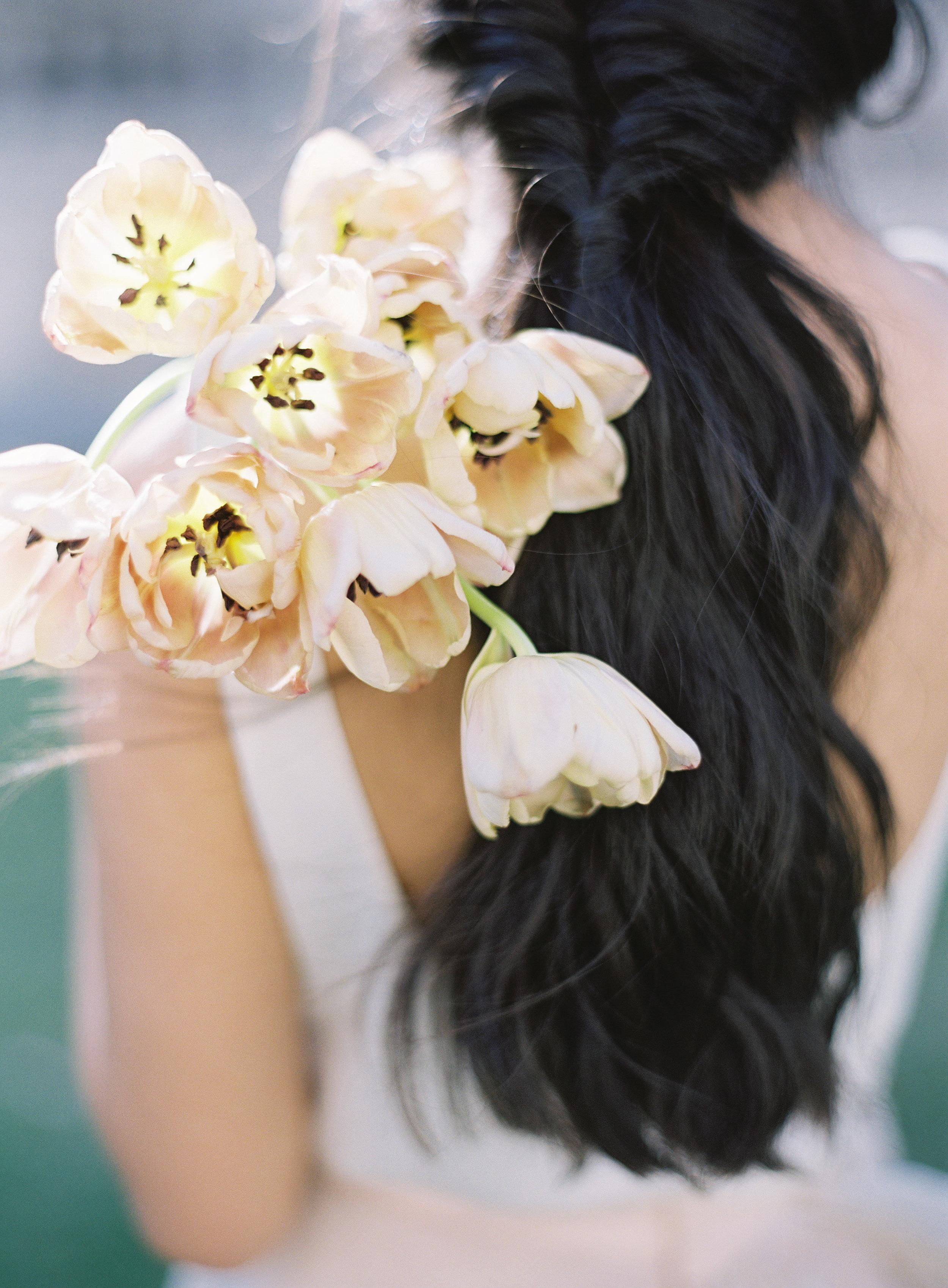 California Wedding Inspiration Fine Art Flowers Modern Romantic Finding Flora florist Sara Weir Wedding Venues Organic Bridal Bouquet Sarah Seven Luxury Magnolia Rouge Tulips