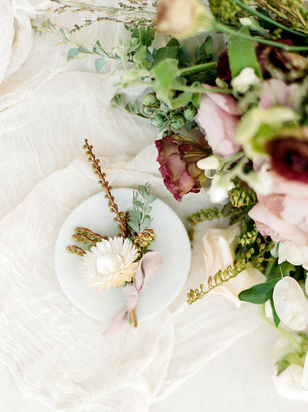 Spanish Mission Style Wedding Ideas Boutonniere t Summer Flowers Finding Flora Wedding Sparrow Fine Art