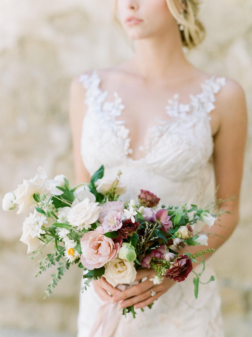 Spanish Mission Style Wedding Ideas Bridal Bouquet Summer Flowers Finding Flora Wedding Sparrow Fine Art