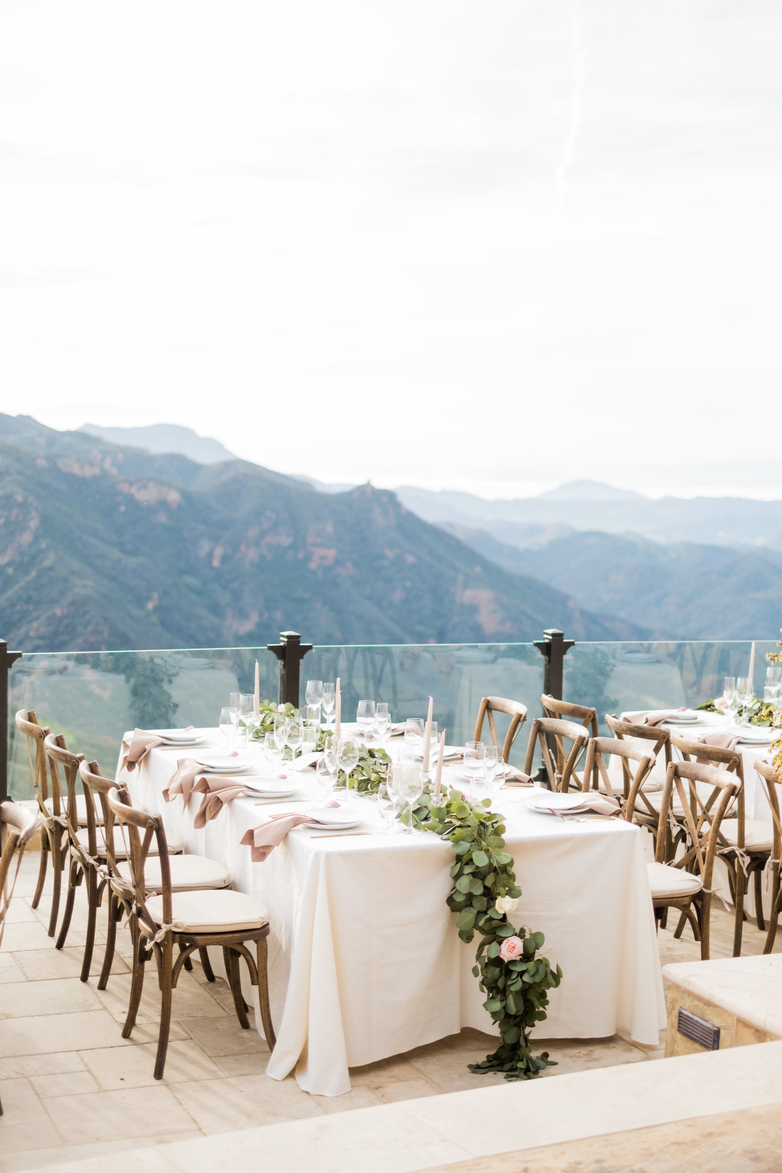 Spring Wedding at Romantic Hilltop Vineyard Malibu Rocky Oaks Sally Pinera Finding Flora Garland Greenery Reception Decor So Happi Together