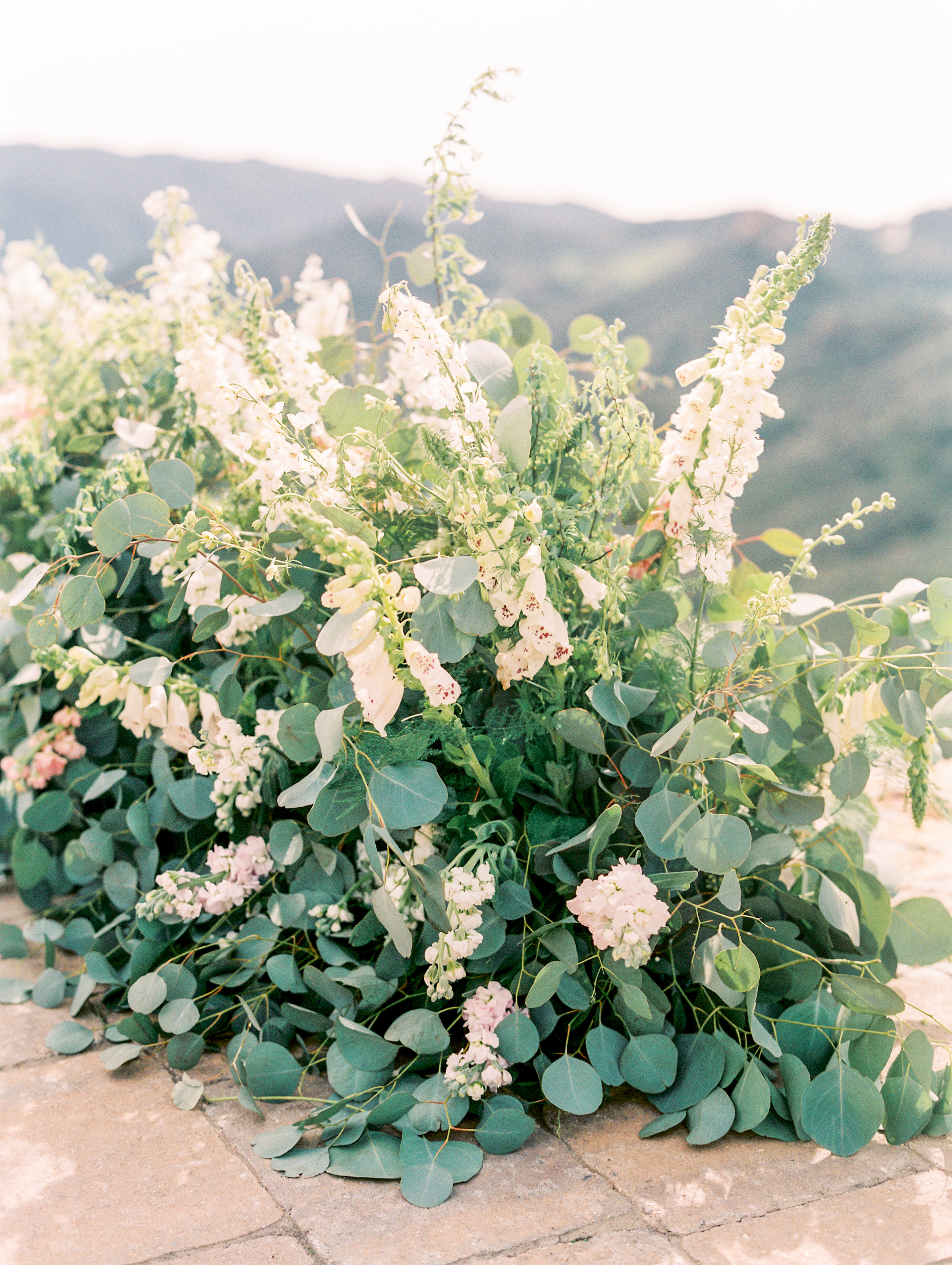 Spring Wedding at Romantic Hilltop Vineyard Malibu Rocky Oaks Sally Pinera Finding Flora Ceremony Circle Installation So Happi Together