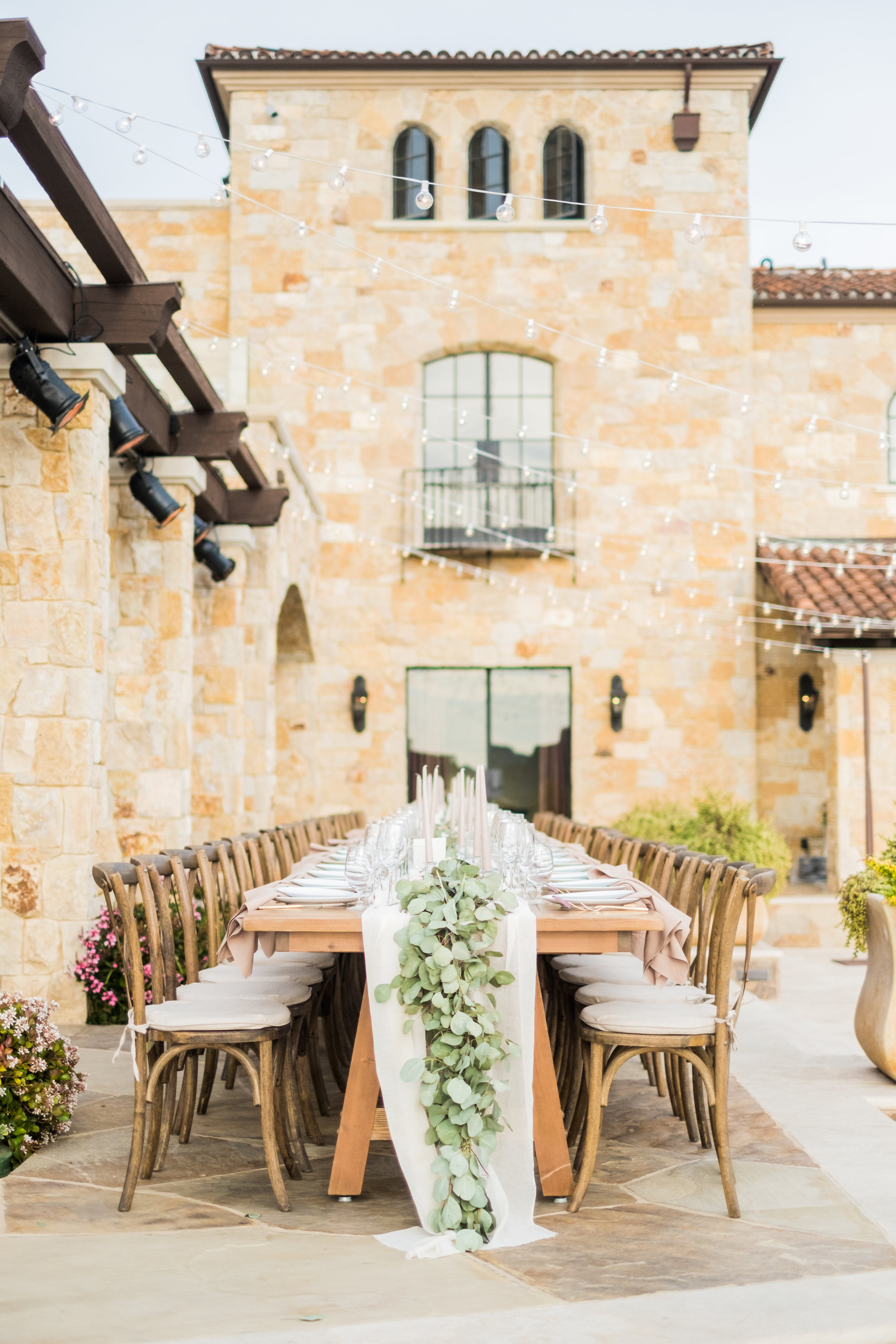 Spring Wedding at Romantic Hilltop Vineyard Malibu Rocky Oaks Sally Pinera Finding Flora Garland Greenery Kings Table Reception Decor So Happi Together