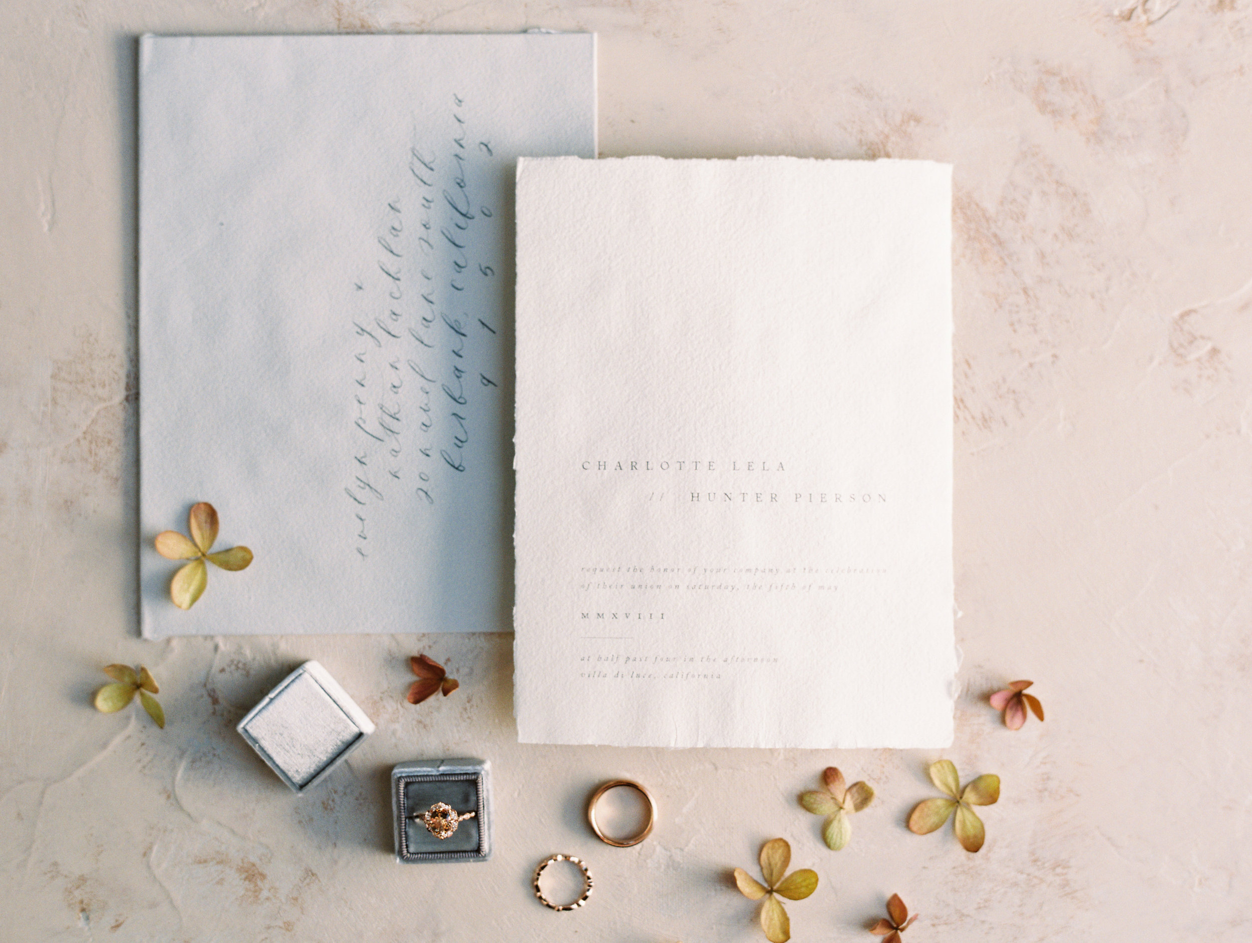 Wedding Invitation Suite with Flower Accents by Finding Flora