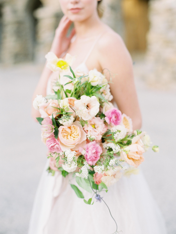 Bridal Bouquet Garden Style Finding Flora Fine Art St. George Utah Florist California