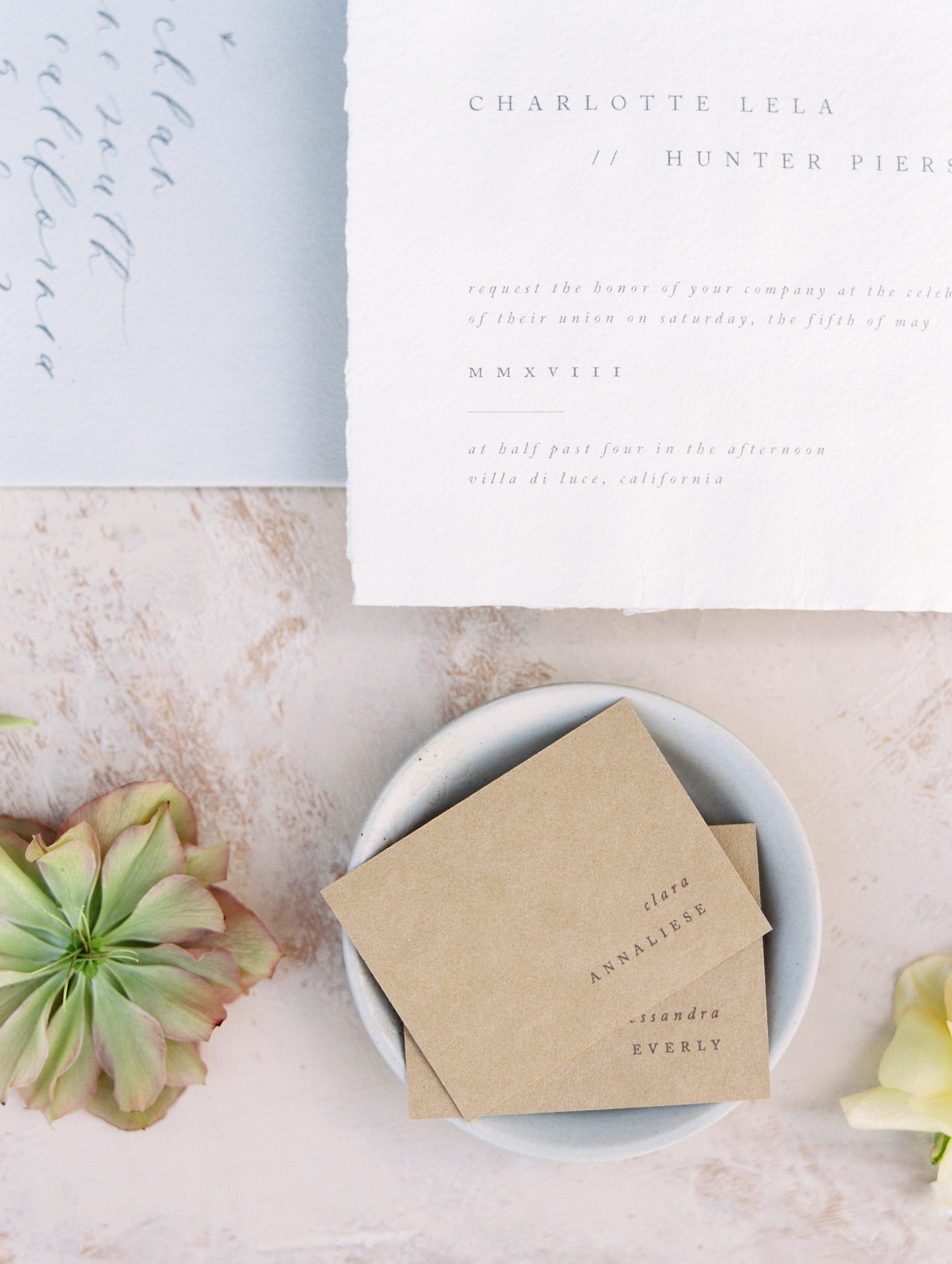 Luxury Invitation Suite for Weddings with flowers by Finding Flora