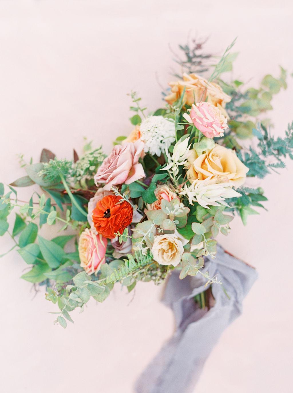 Mauve Bridal Bouquet by Finding Flora