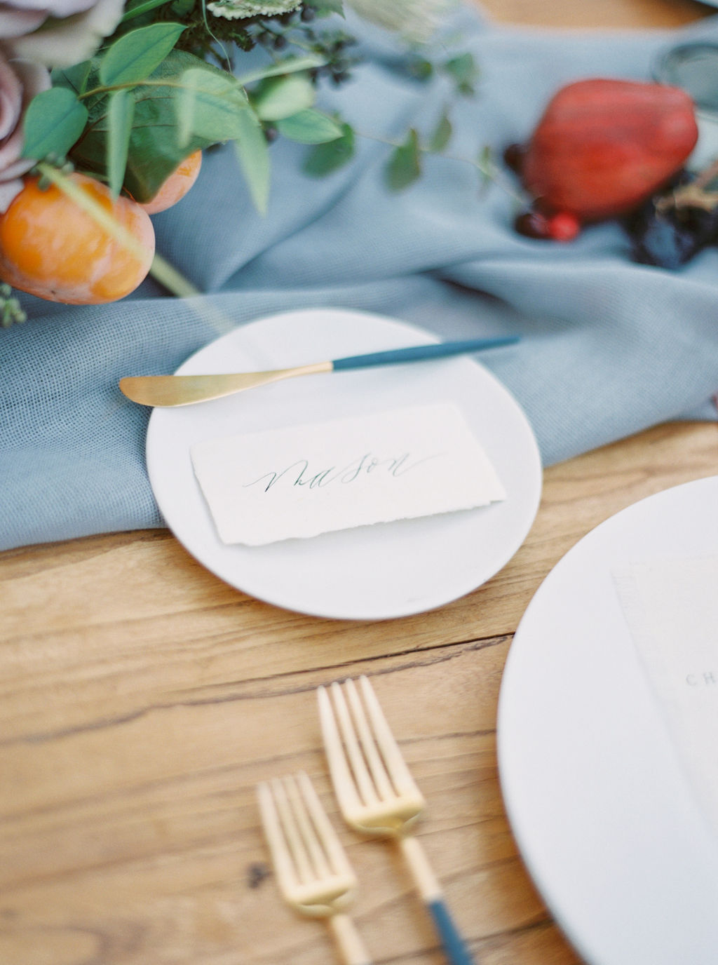 Table Details and Autumn Fruit Styling by Finding Flora