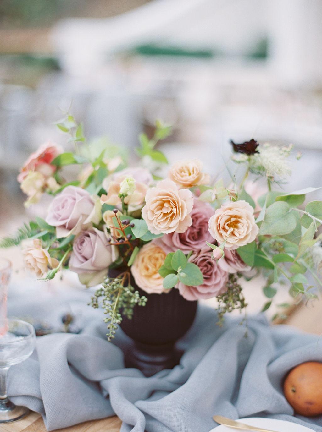 Garden Roses Centerpiece by Finding Flora