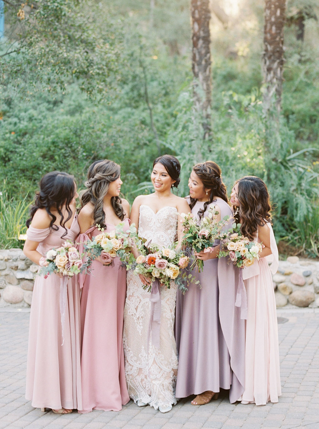 Bridesmaids Bouquets by Finding Flora