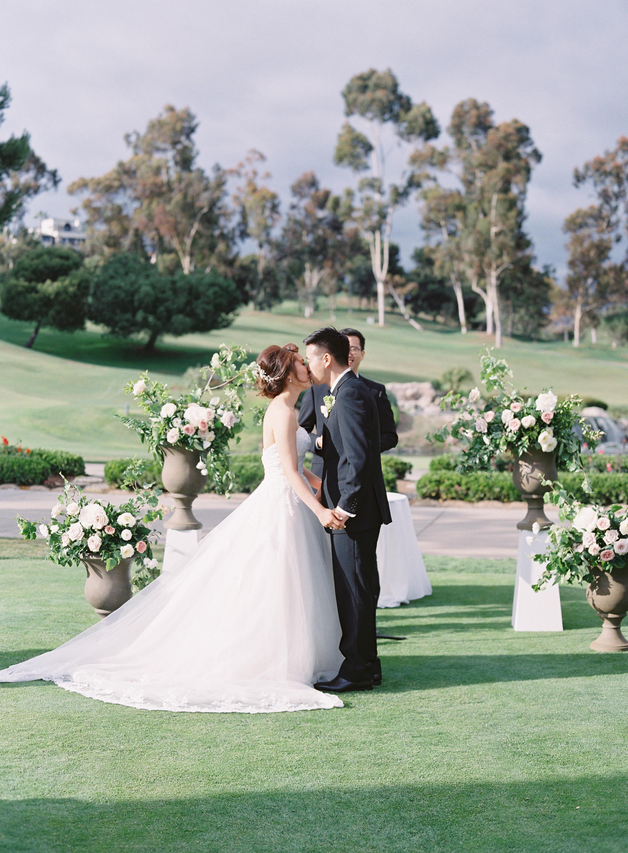 Wedding Ceremony Urns Spring Flowers Garden Roses Finding Flora Sara Weir