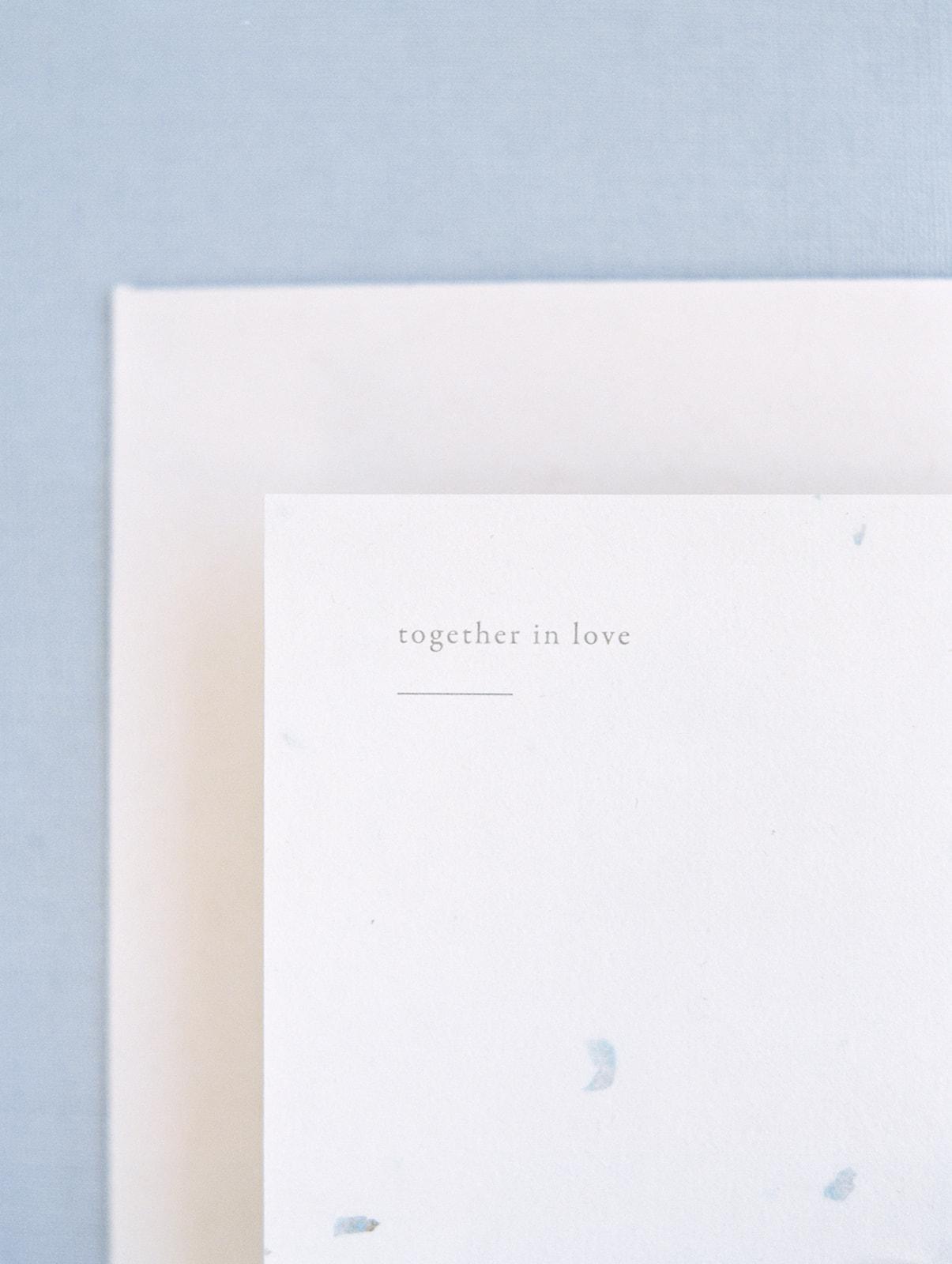 Romantic Wedding Invites in Dusty Blue