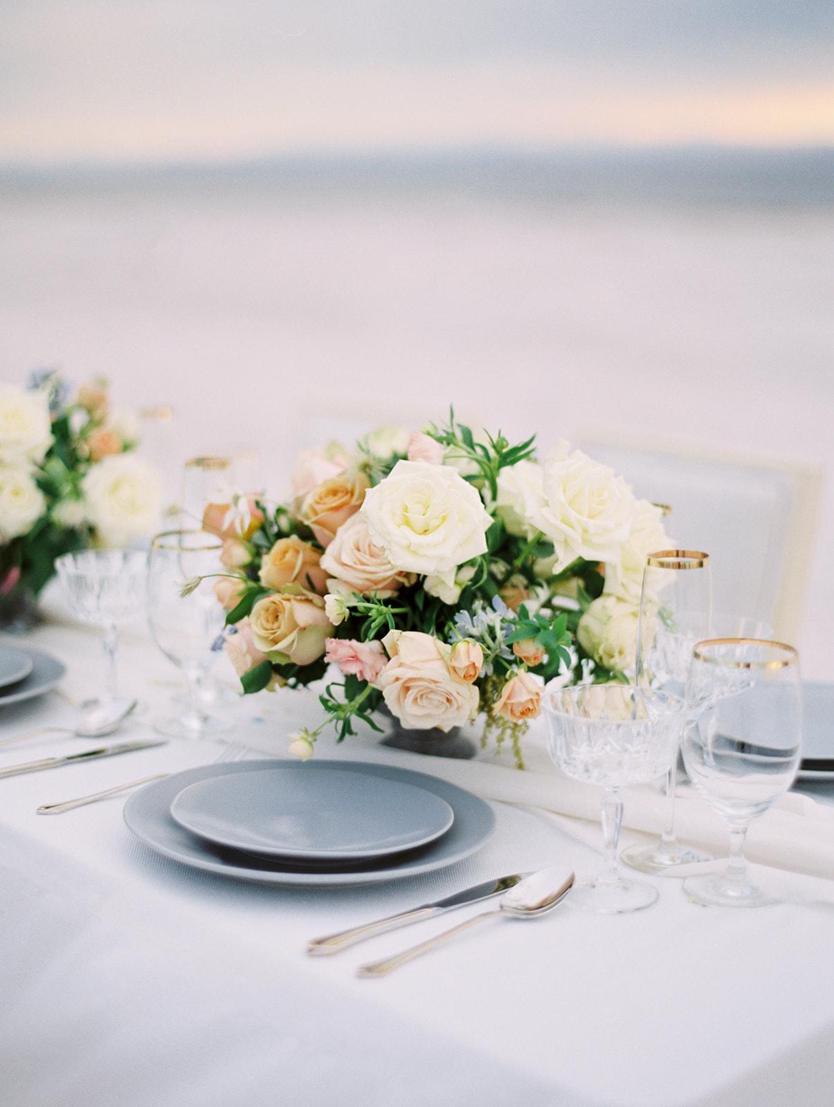 Timeless wedding centerpieces