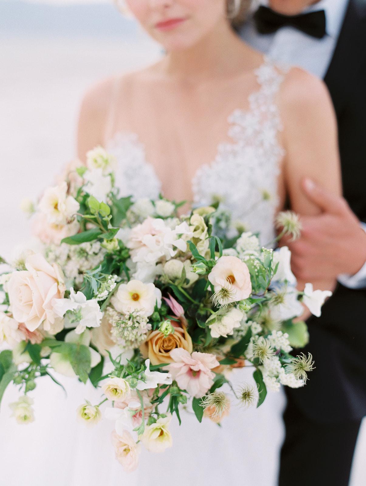 Modern Organic Bridal Bouquet by Finding Flora