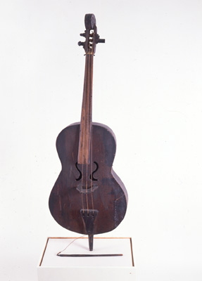 "1978.118(A).008 String Bass, made and played by Alcide ""Slow Drag"" Pavageau, ca. 1927"