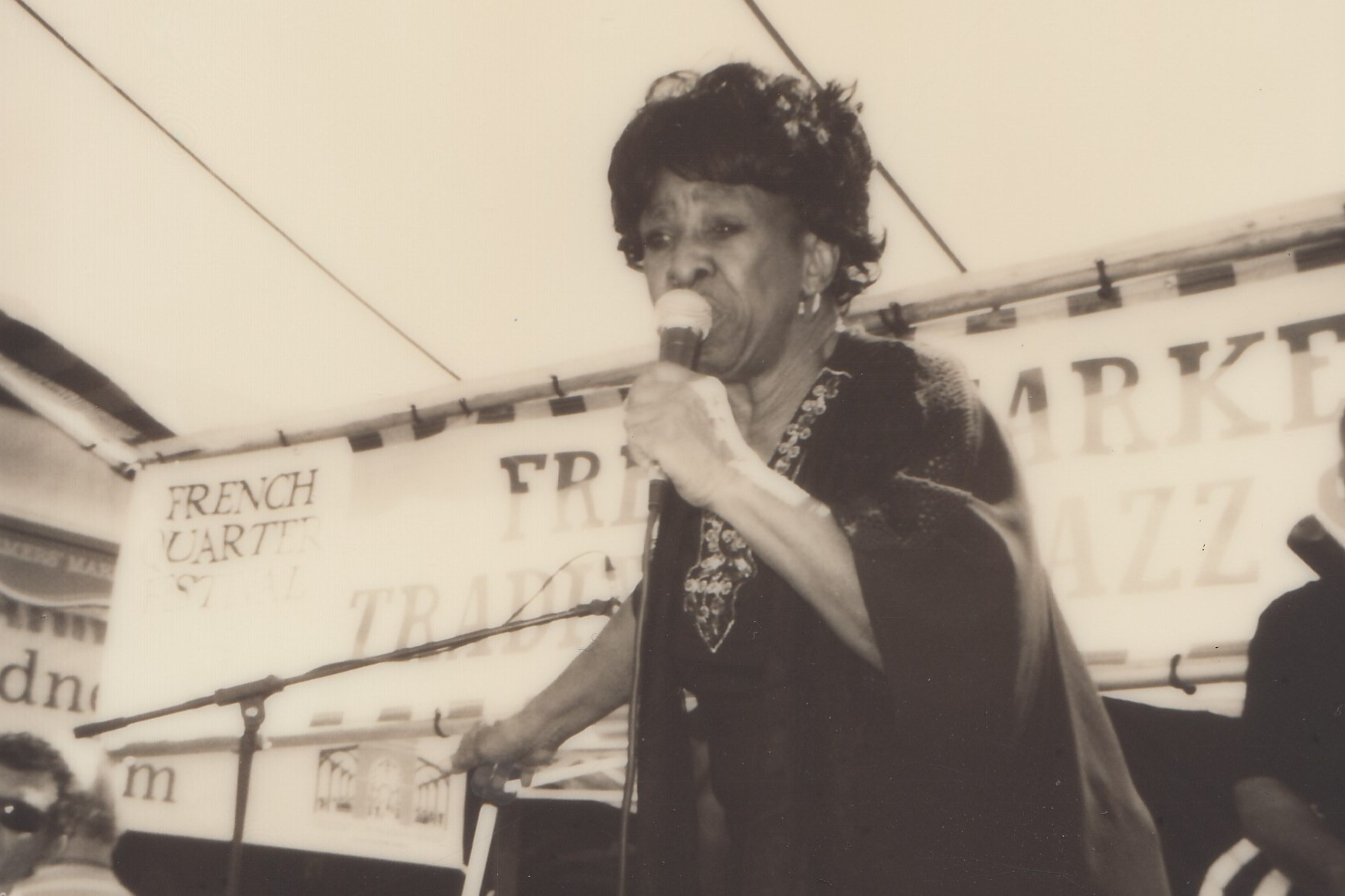 Thais Clark performing at French Quarter Fest 2017, by Baylee Badawy / New Orleans Jazz Museum