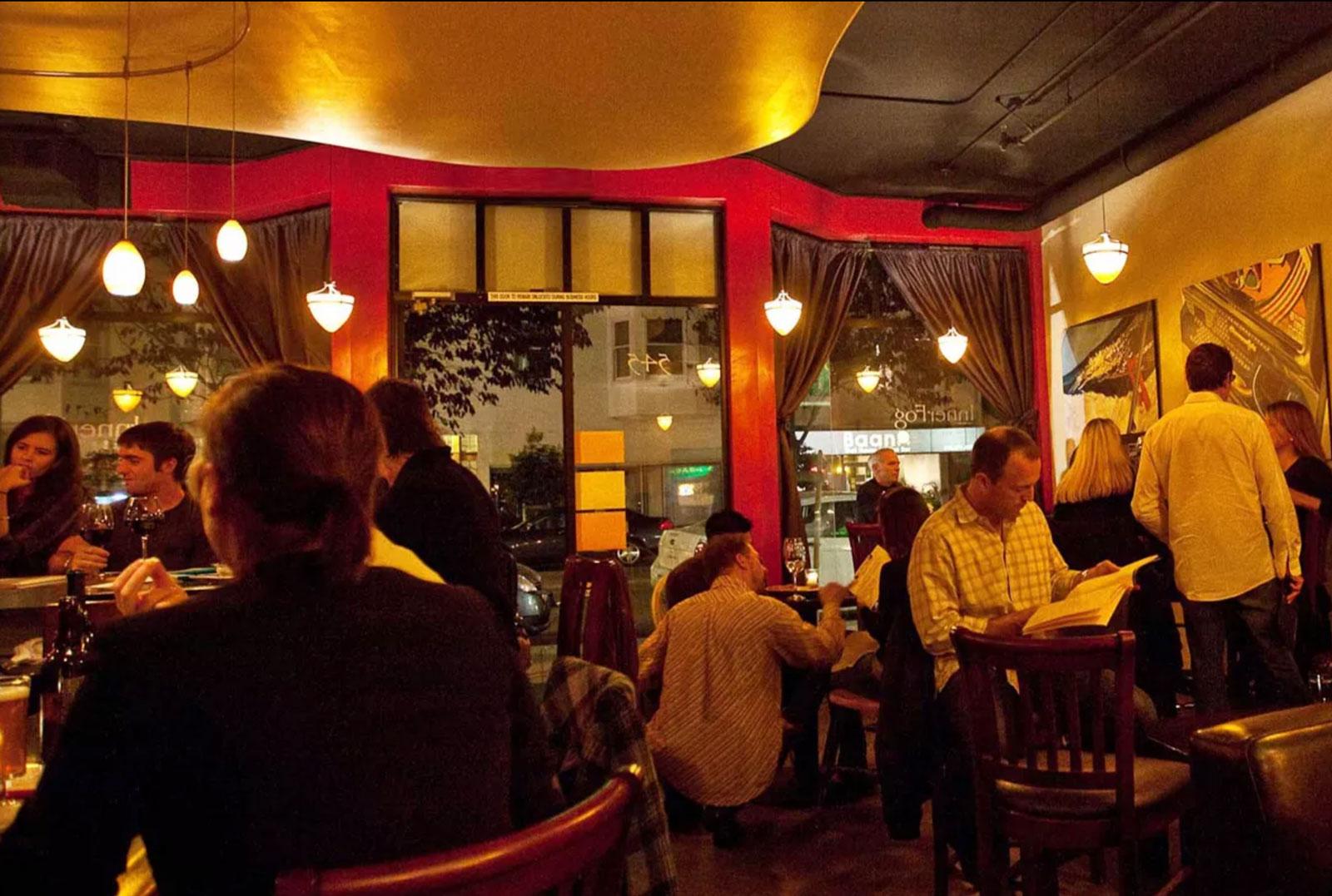 Interior of Inner Fog Wine Bar in San Francisco