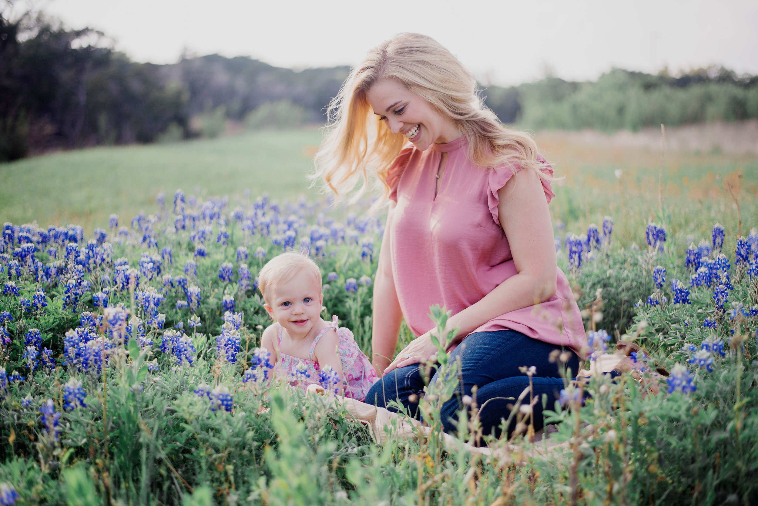 Austin Portrait Photographer First Birthday Session Texas Wildflowers Bluebonnets018.jpg