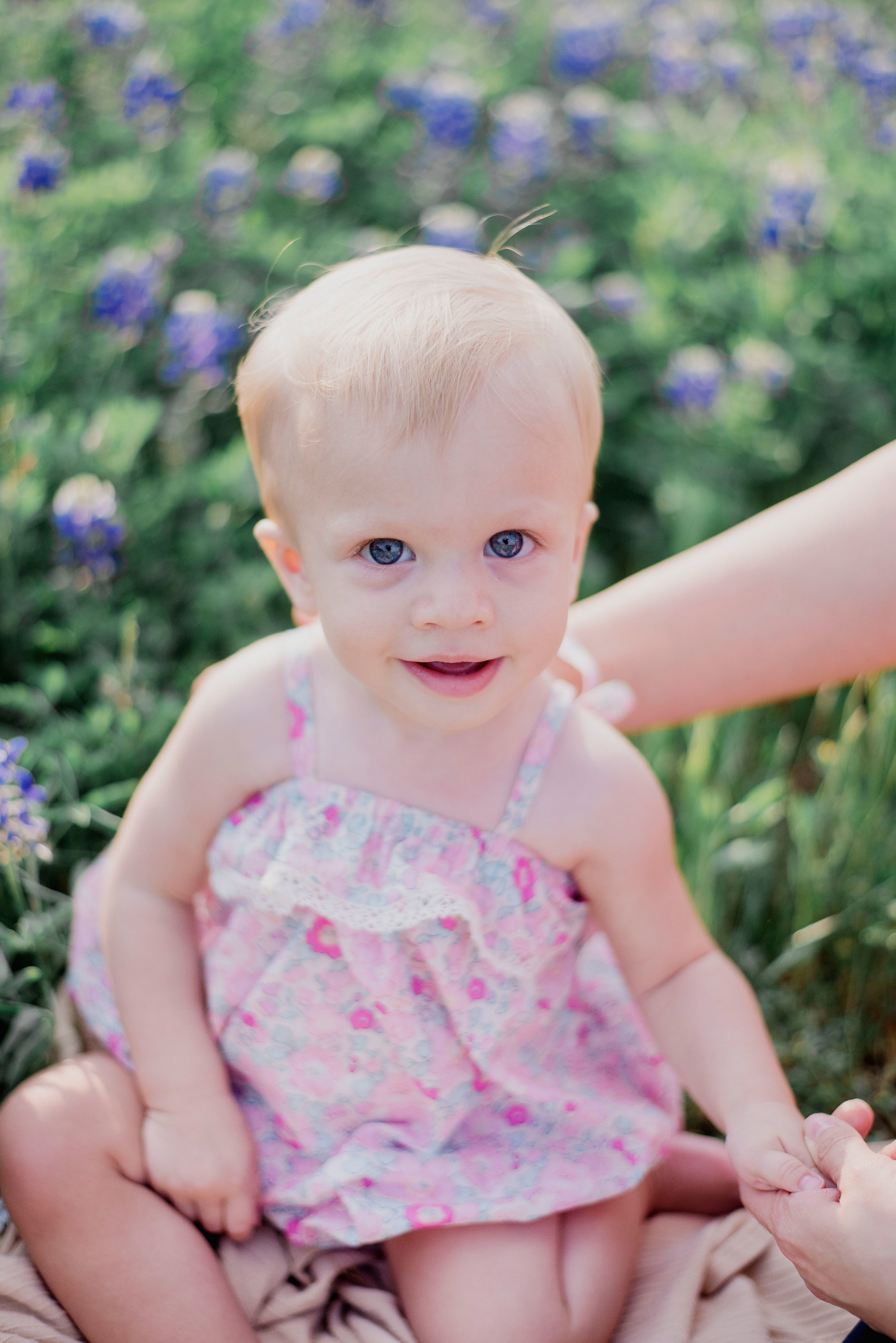 Austin Portrait Photographer First Birthday Session Texas Wildflowers Bluebonnets019.jpg