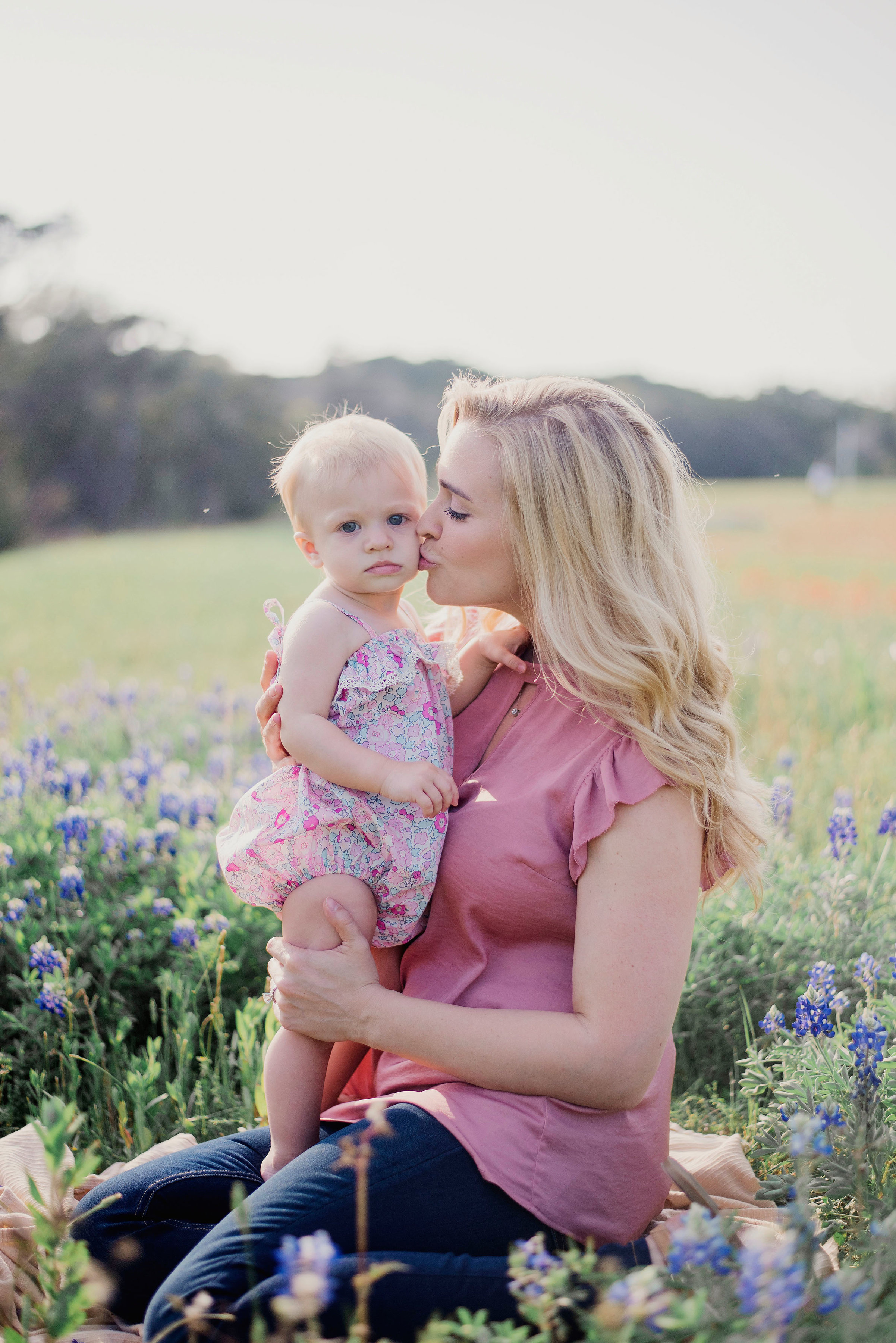 Austin Portrait Photographer First Birthday Session Texas Wildflowers Bluebonnets023.jpg