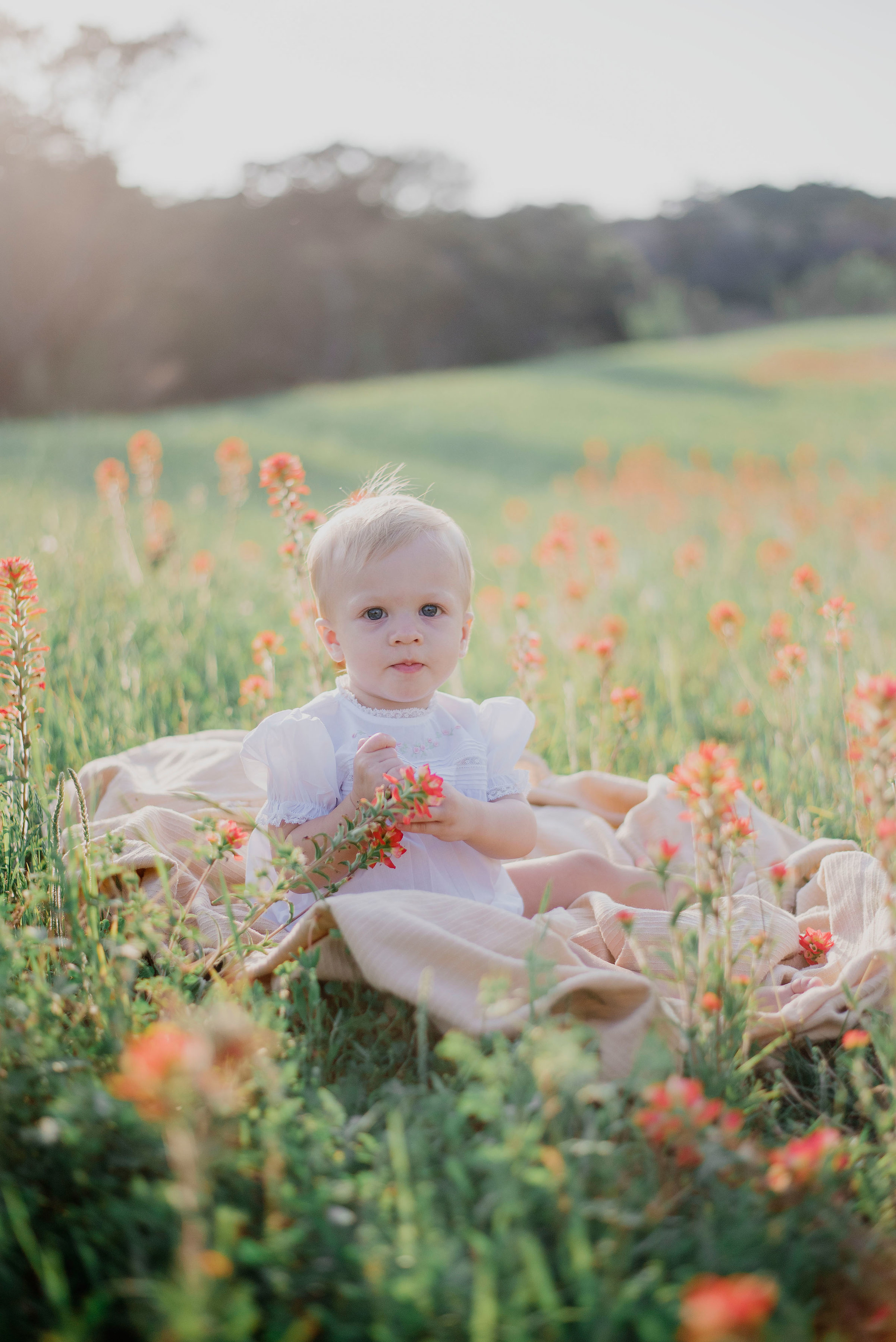 Austin Portrait Photographer First Birthday Session Texas Wildflowers Bluebonnets053.jpg