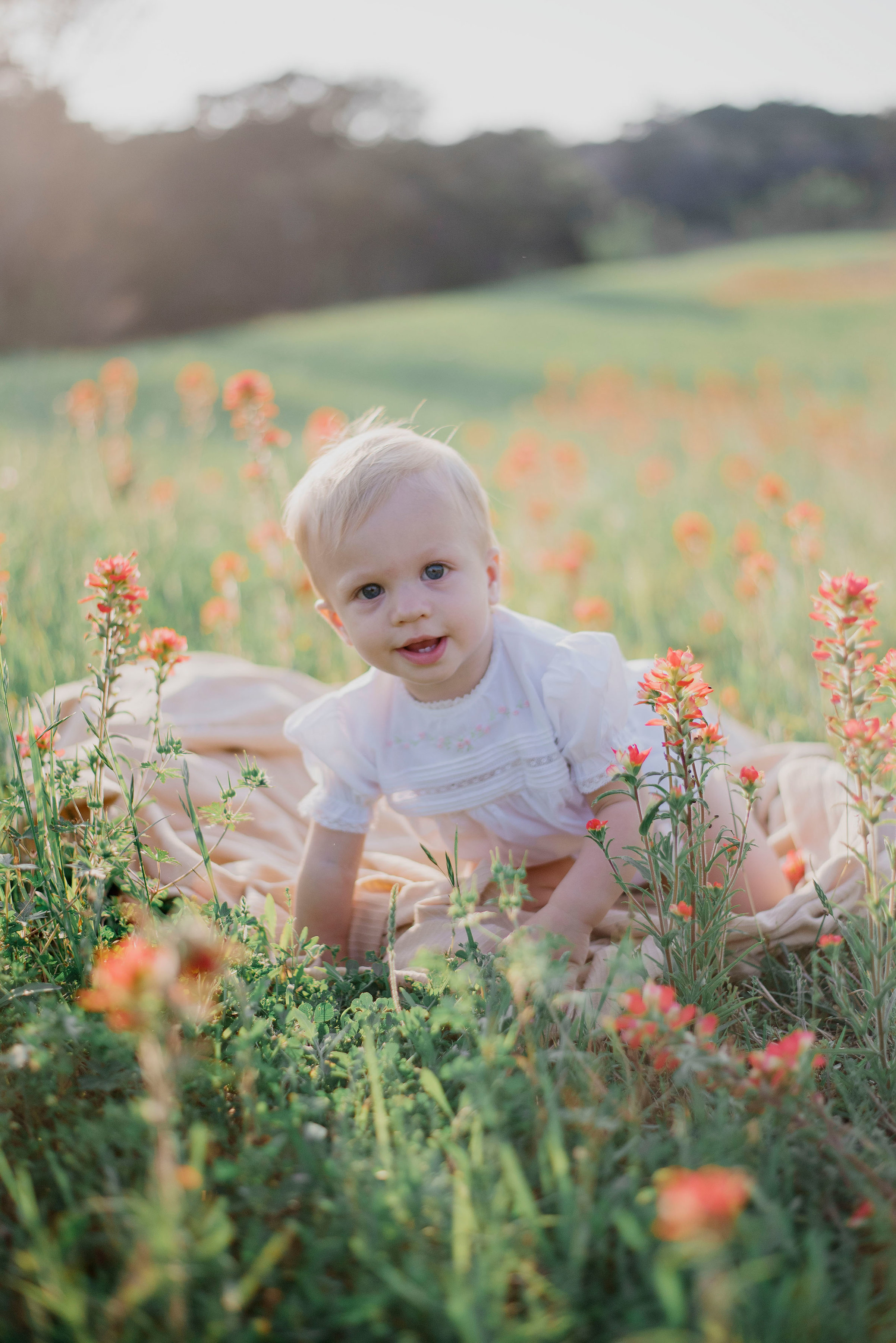 Austin Portrait Photographer First Birthday Session Texas Wildflowers Bluebonnets054.jpg