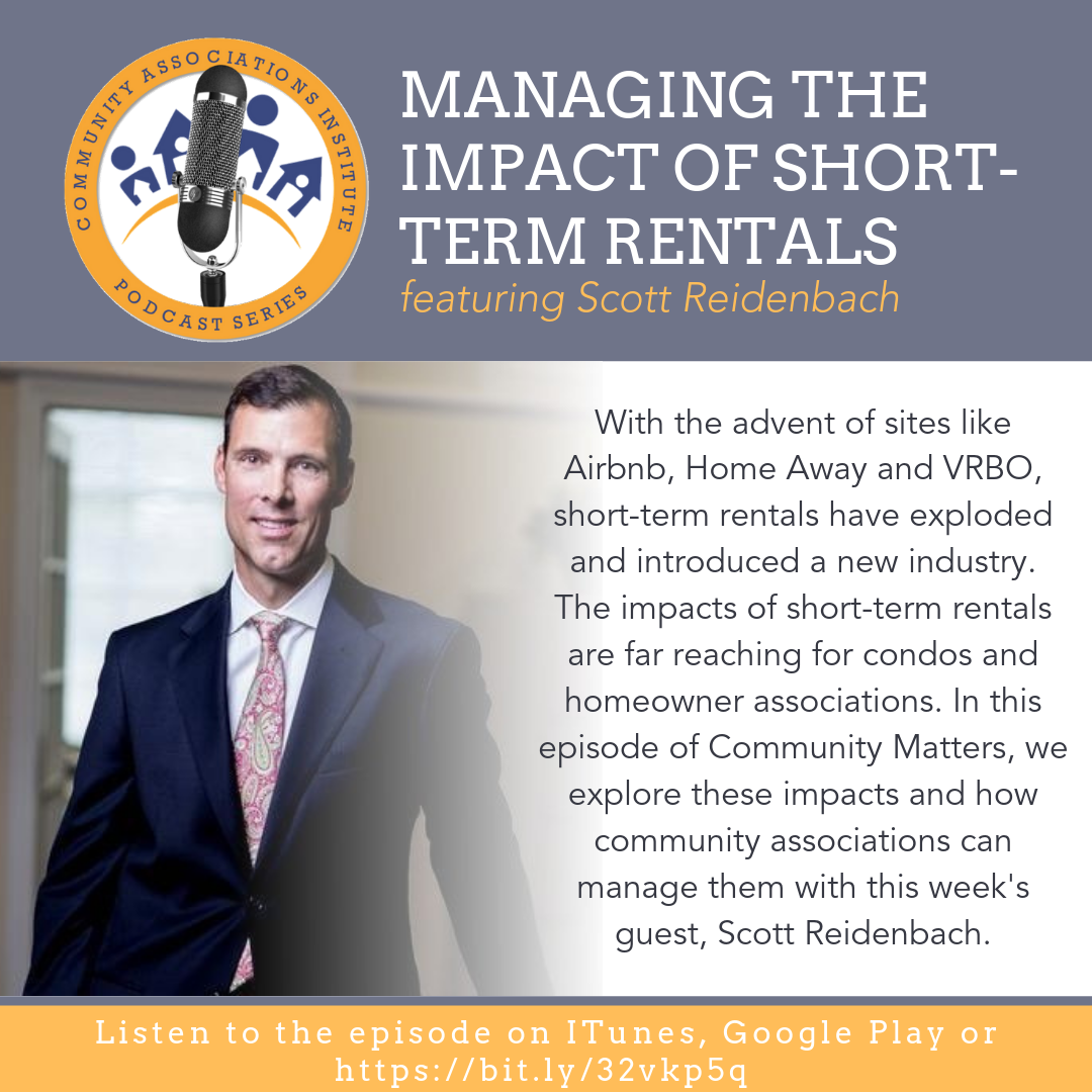 Scott Reidenbach was a featured guest on the  Community Associations Institute 's Community Matters podcast. Listen to the full episode here:   https://www.cai-padelval.org/podcast-managing-the-impact-o…/