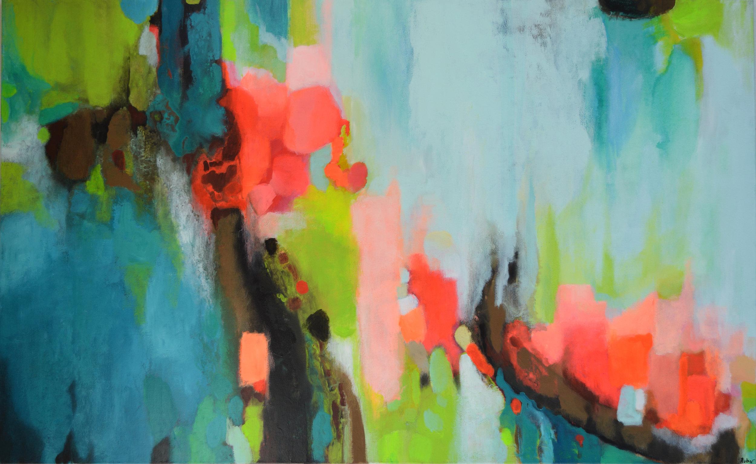 "60x36""  Acrylic on canvas  SOLD"