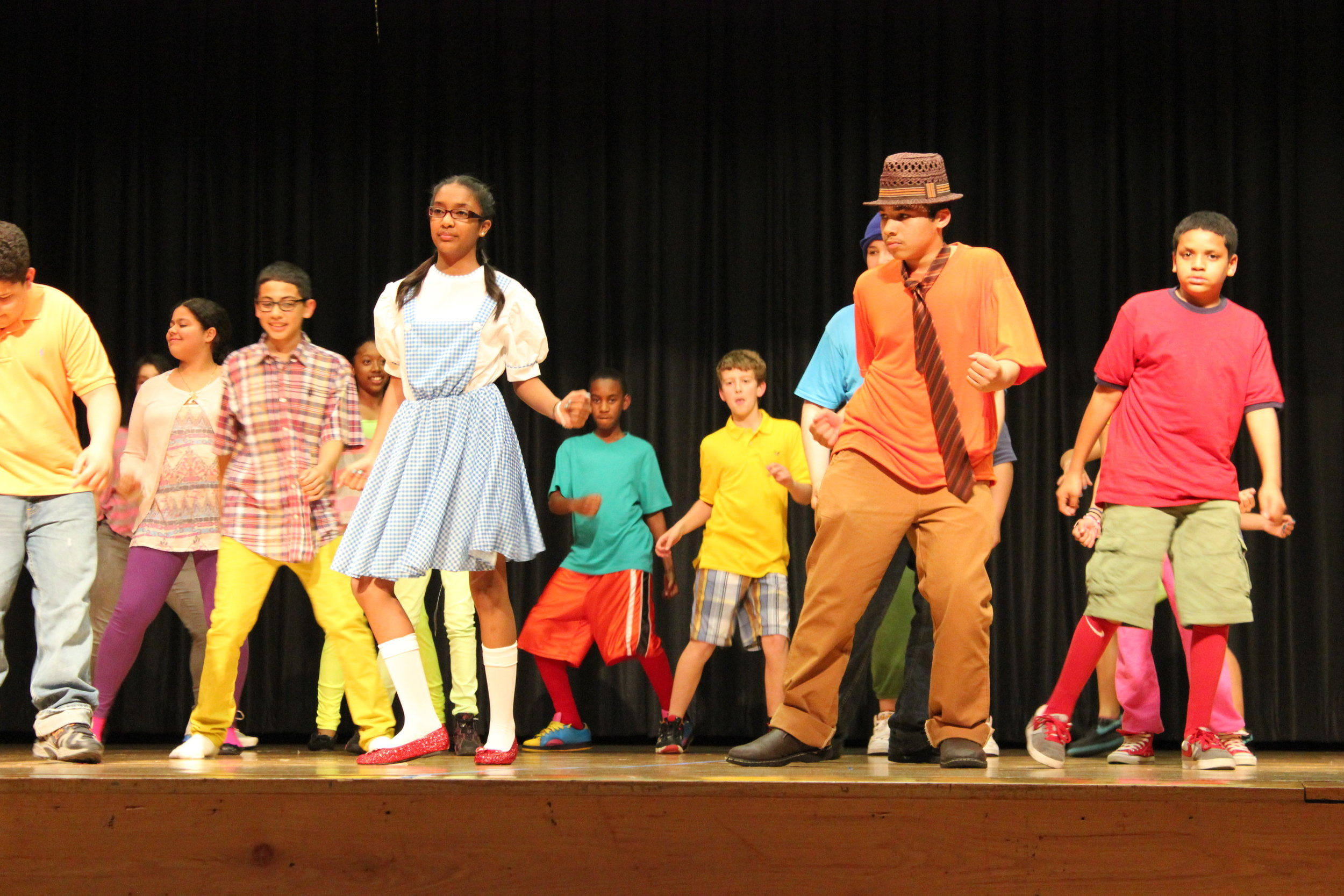 Middle school students create, mount and perform in shows on Broadway as part of the Shubert Foundation / MTI Broadway Junior Musical Theater Program