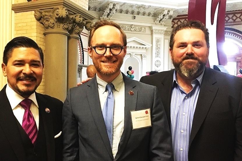 NYC Schools Chancellor Richard Carranza, Jamie Cacciola-Price, and Lincoln Center Education's IA Executive Director Alex Sarian