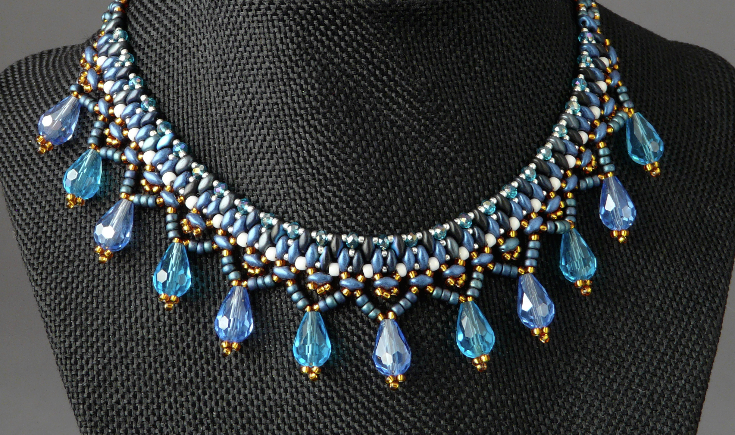 Turq;uoise Woven Drop Necklace
