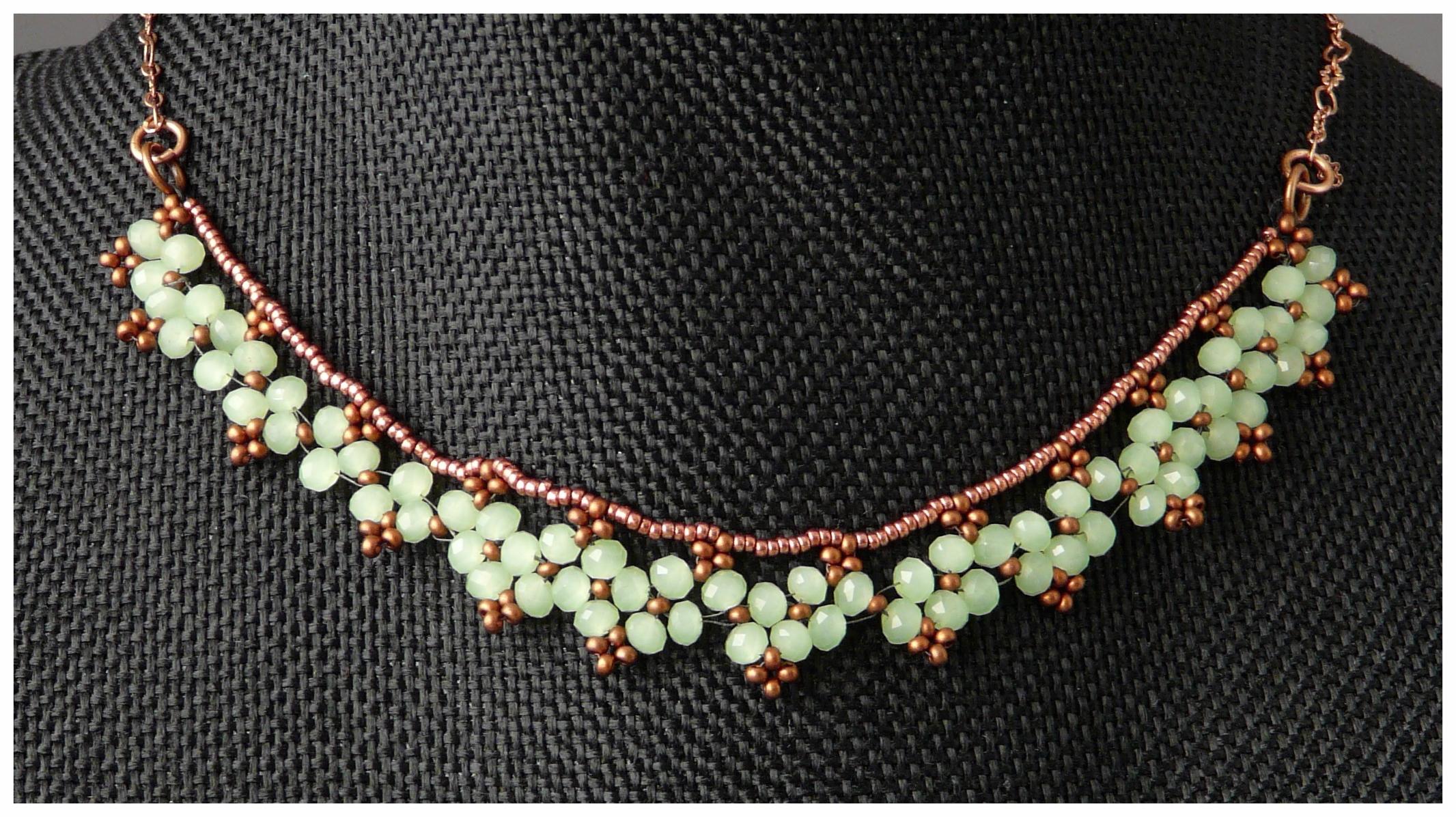Delicate Fire Polish Necklace
