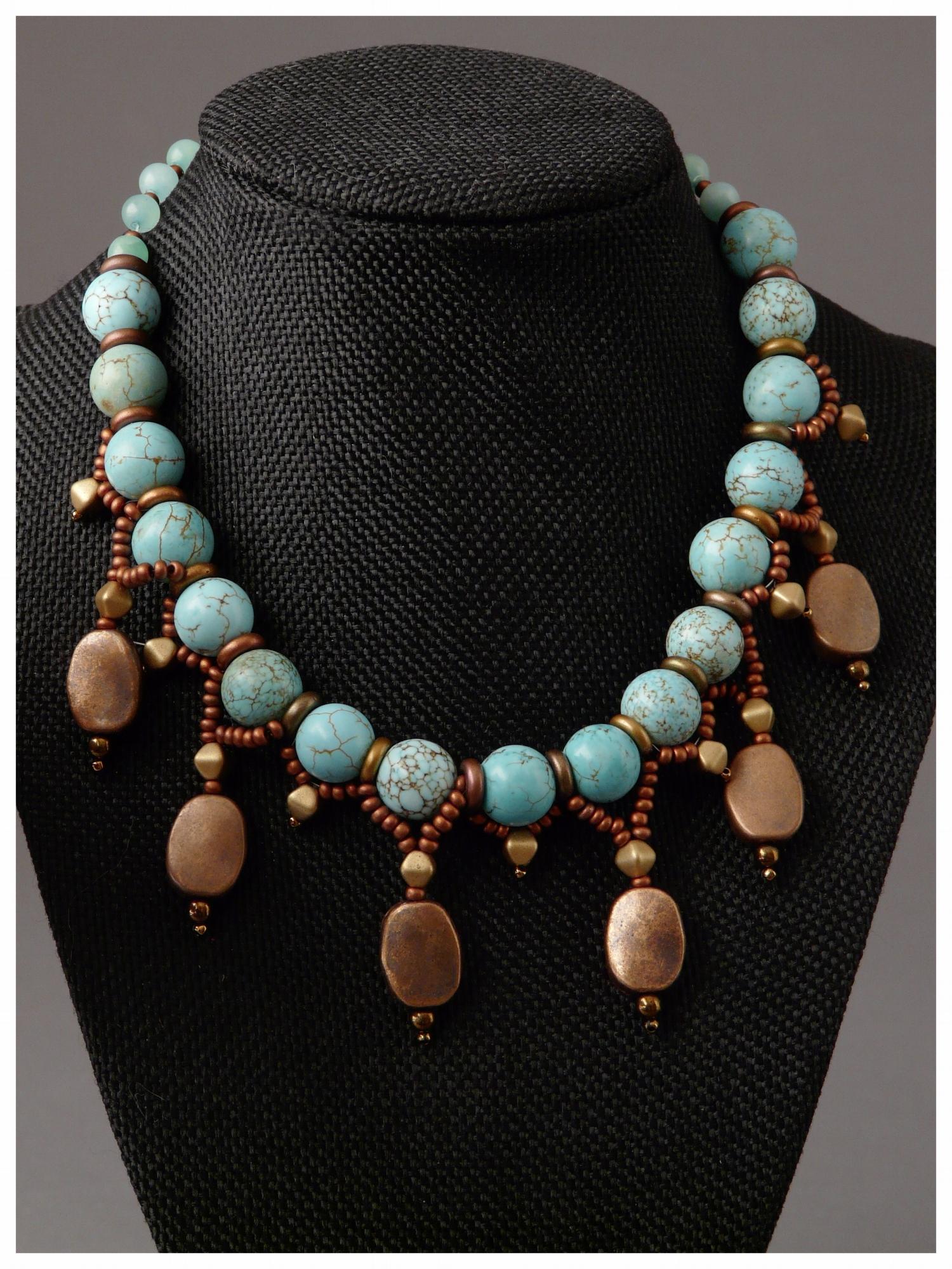 Turquoise Copper Drop Necklace