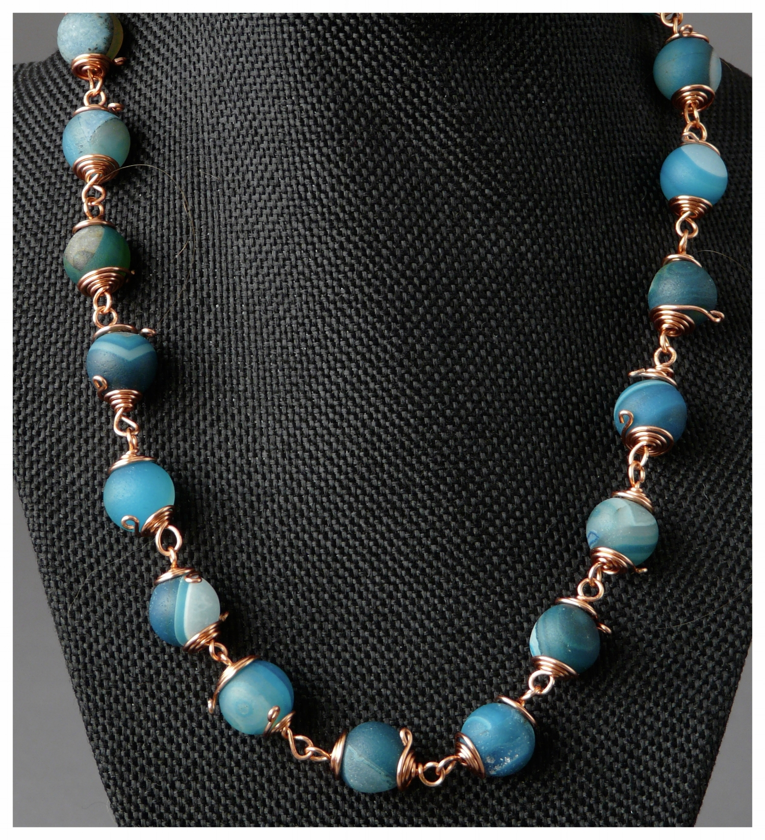 Blue Moon Wire Wrap Necklace