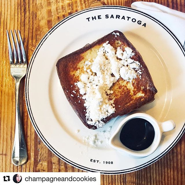 Life-changing toast! Starting next weekend, you can enjoy brunch on Saturdays (NEW!) and Sundays! 🚨🚨🚨 ・・・ #Repost @champagneandcookies with @get_repost ・・・ This just happened! The French Toast that changed my life!! I just had the best brunch with @elisaphillips @misssambabela @gabebussiere @robynneweaver @thesaratogasf and we shared this deliciousness!! This is their Texas French Toast made with Thick-Cut Brioche, Bourbon 🥃 Syrup and topped with Bacon 🥓 Powder!! Seriously this was the best French Toast I've ever had in my life!! Thank you @mandy_claire925 for your absolutely incredible service and @thesaratogasf once again for another Brunch for four! #yearofbrunches Xoxo🙌🏻🥓🥃🍞 ••• ••• ••• #thesaratogasf #thesaratogasfbrunch #sfeeeats #sffoodscene #sundayfunday #sundaybrunch #myfab5 #craveit #bestfoodsf #bestfoodbayarea #yearofbrunches #eeeeeats #forkyeah #foodstagram #dishpics @thesaratogasf @mandy_claire925 @bacchusmanagementgroup @brandonwayneclements @bayareabrunchclub @bayareaspoon @friendseattheworld @eater_sf @ieatsf @dishcrawlco @jer.chung @opentable @wheresanfrancisco @7x7bayarea @sanfrancisco_restaurants @sanfranciscofoodguide @dinewithme_sf @ddining7 @tablehopper