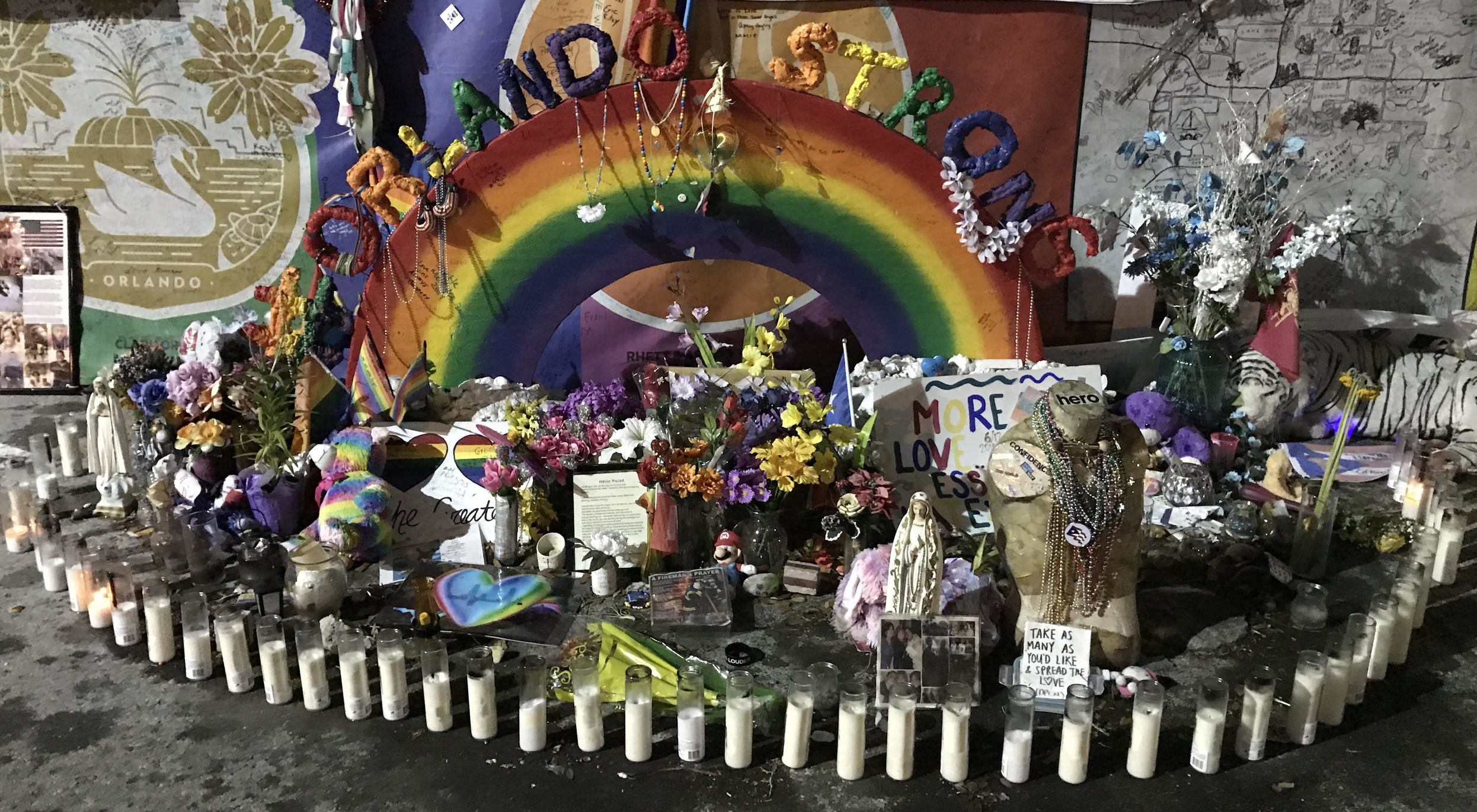 A makeshift memorial outside of Pulse (taken on May 8, 2017)