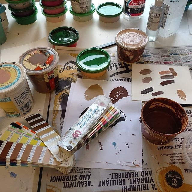 For the turkey! #art #artresidency #printmaking #screenprinting #colors #ink