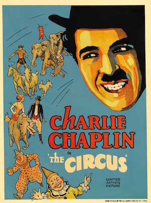 IMAGE: Original poster for  The Circus , dir. Charlie Chaplin, 1928.