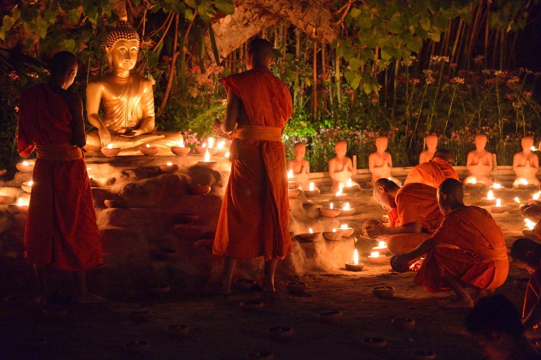Makha Bucha, Buddhist Festival, Chiang Mai, Thailand