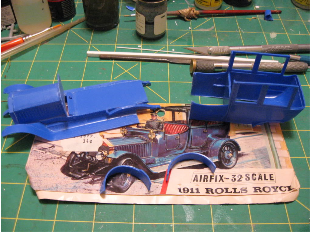 Rolls Royce AmbulanceAirfix 1/32 scale conversion. Photo 1 of 4.