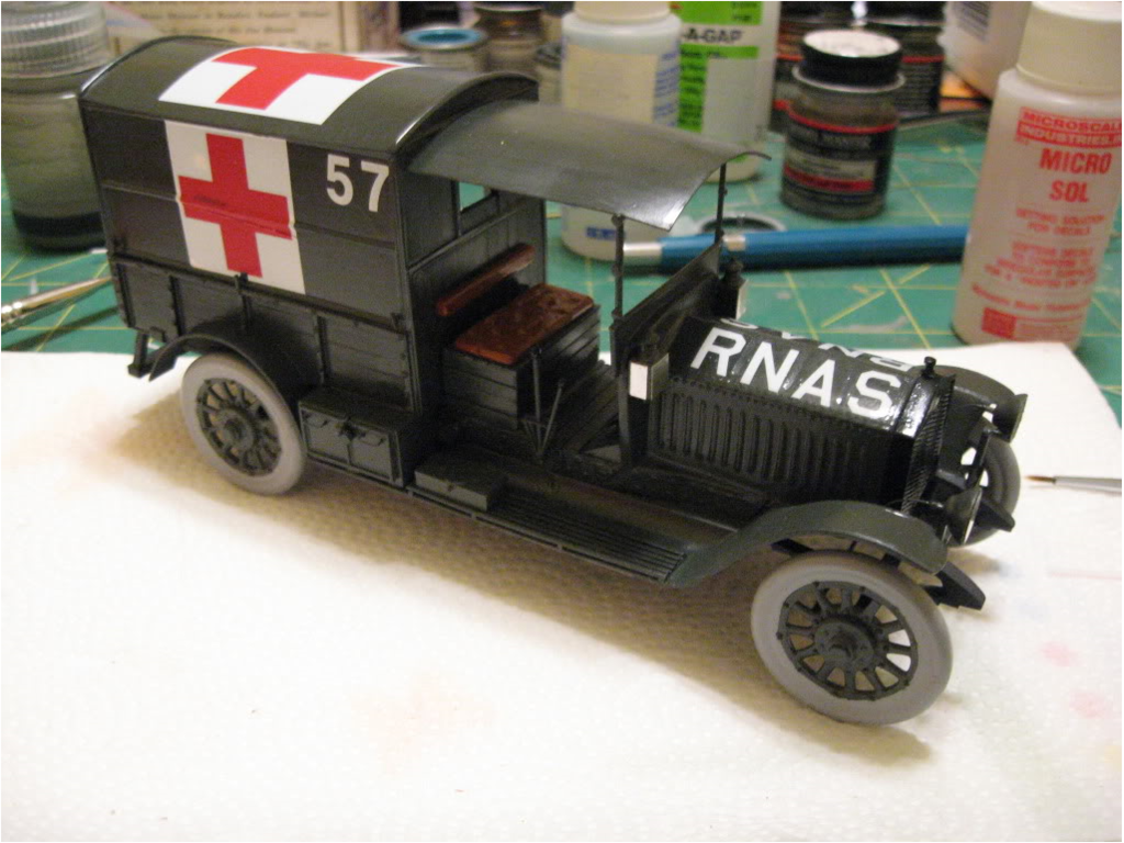 Rolls Royce AmbulanceAirfix 1/32 scale conversion. Photo 2 of 4.