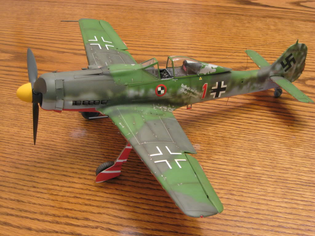 FW-190 D9 Hasegawa old tool 1/32 scale. Photo 1 of 2.