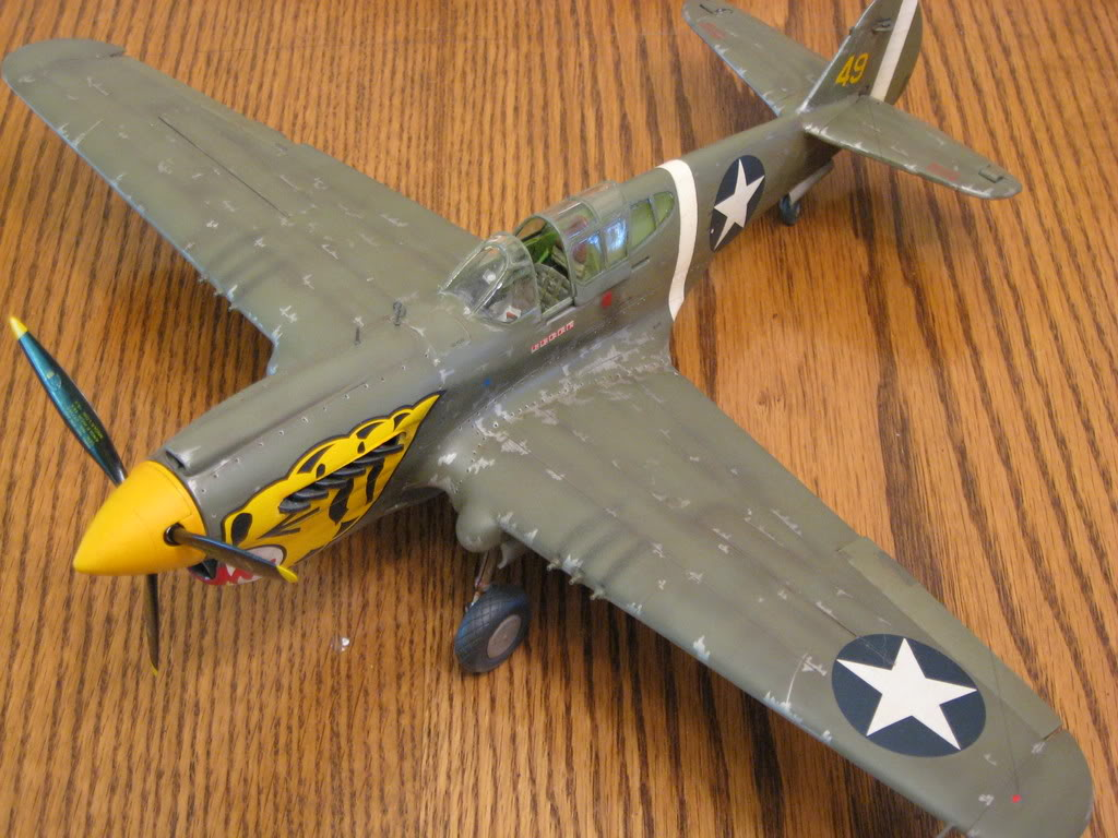 P-40E 1/32 scale. Photo 1 of 5.