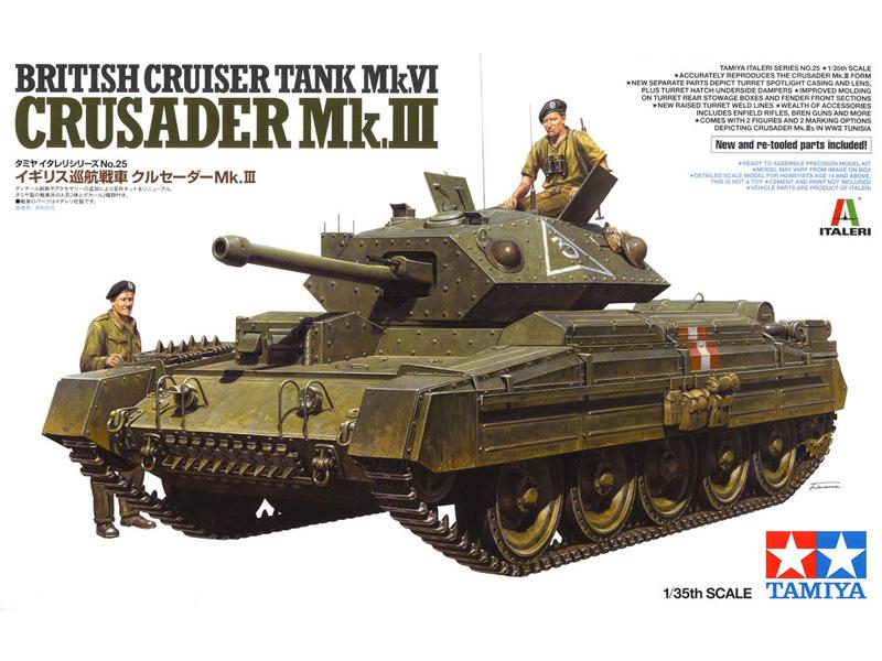 Border BT-012 1//35 BRITISH CRUISER TANK MK.VI CRUSADER MK.LLL Plastic model kit