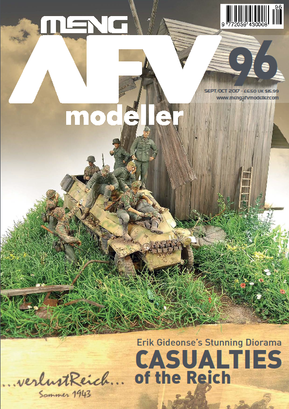 AFV Modeller 96, SEP/OCT 2017 edition features a in-depth review and Out of the Box Build